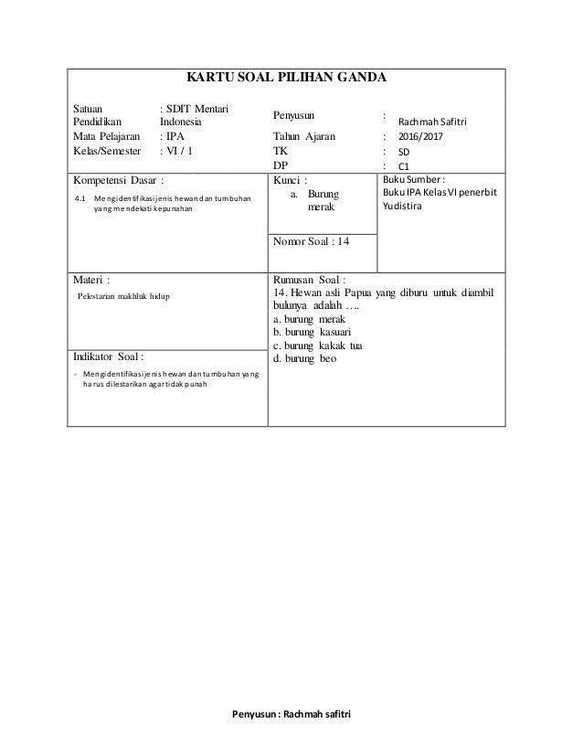 Contoh Soal Ekosistem Kelas 7 Contoh Su