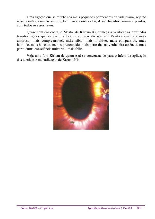 Fórum ReikiBr – Projeto Luz Apostila de Karuna Ki níveis I, II e III-A 38 Uma ligação que se reflete nos mais pequenos por...