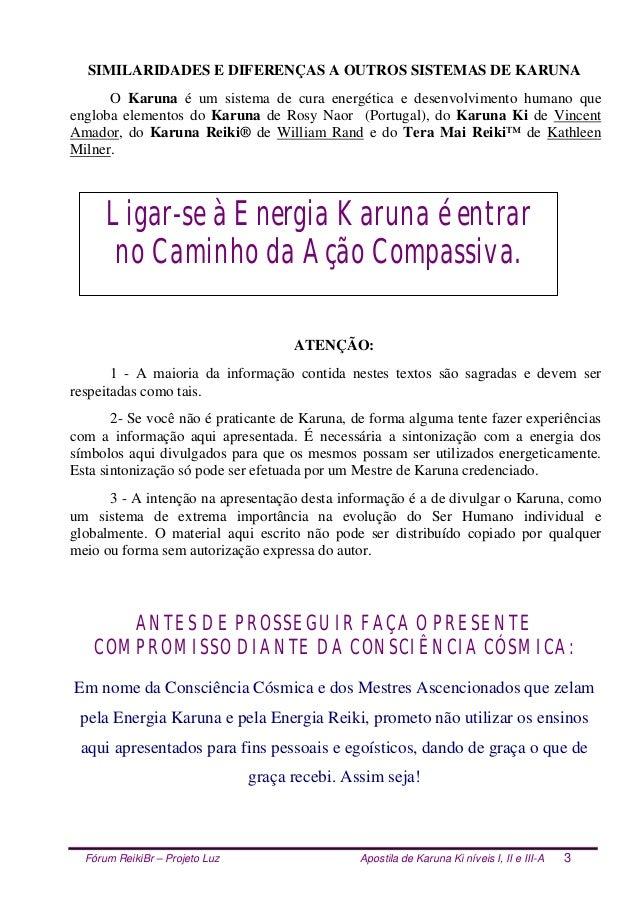 Fórum ReikiBr – Projeto Luz Apostila de Karuna Ki níveis I, II e III-A 3 SIMILARIDADES E DIFERENÇAS A OUTROS SISTEMAS DE K...