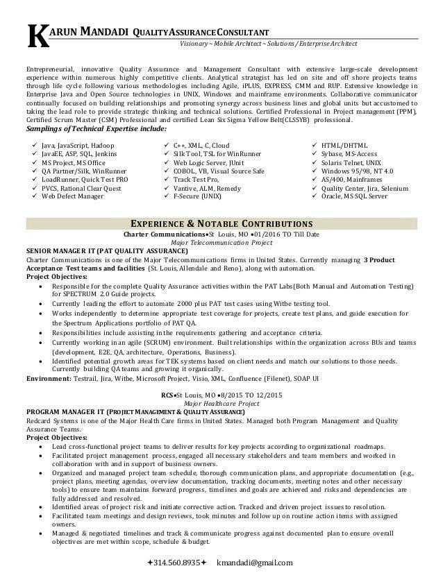 Karun Mandadi Resume