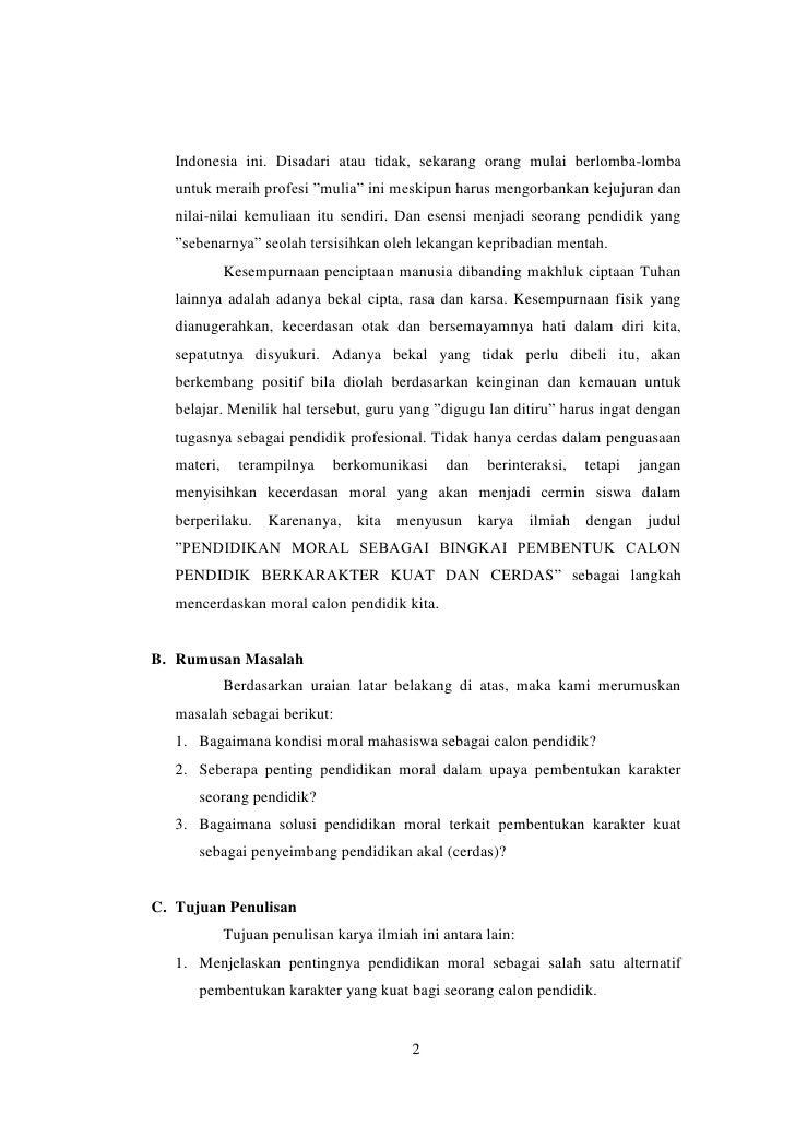 Contoh Karya Tulis Ilmiah Tentang Pendidikan Pdf