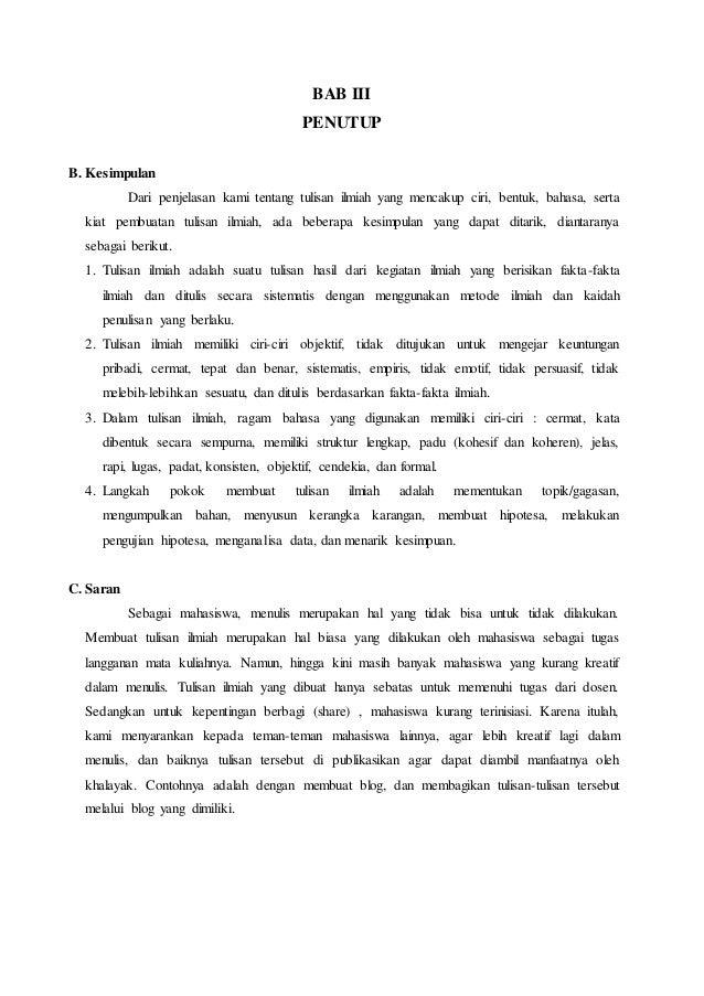 Contoh Karya Tulis Ilmiah Bentuk Formal Pdf