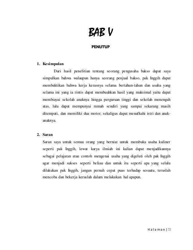 Popular 12 Contoh Makalah Wawancara Pedagang Bakso Paling Update