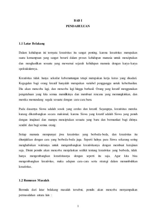 Karya Ilmiah Bahasa Indonesia Strategi Menumbuhkan Kreativitas Siswa