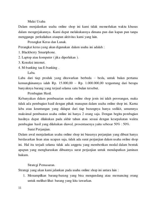 Karya Ilmiah Bisnis Online