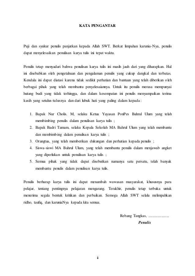 Karya Tulis Bahasa Indonesia Sma Mengenai Minat Siswa Terhadap Pelaja