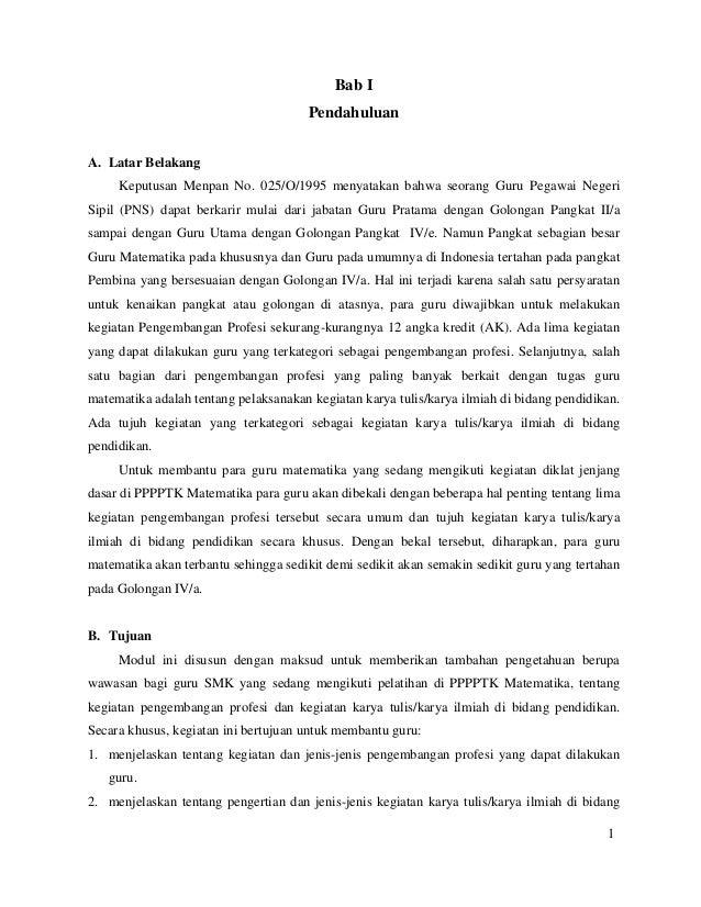 Contoh Karya Tulis Ilmiah Guru Sd Seputaran Guru