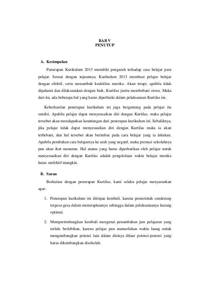 Karya Tulis Ilmiah Mengenai Pengaruh Penerapan Kurikulum 2013 Terhada