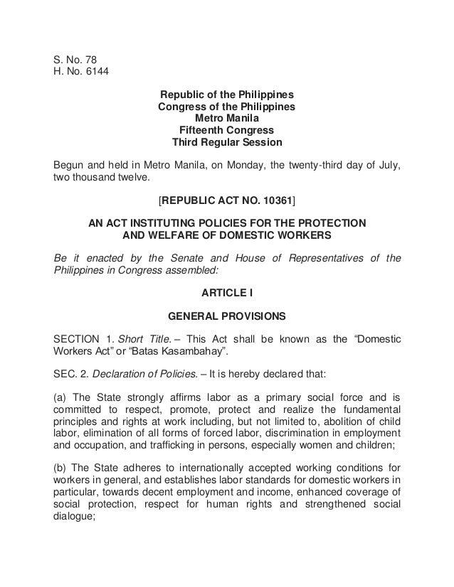 S. No. 78 H. No. 6144 Republic of the Philippines Congress of the Philippines Metro Manila Fifteenth Congress Third Regula...