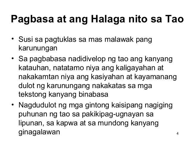 kahalagahan ng pagbasa Results for intensibong pagbasa translation from tagalog to english  ano ang konsepto ng pagbasa  mga islogan tungkol sa kahalagahan ng pagbasa.