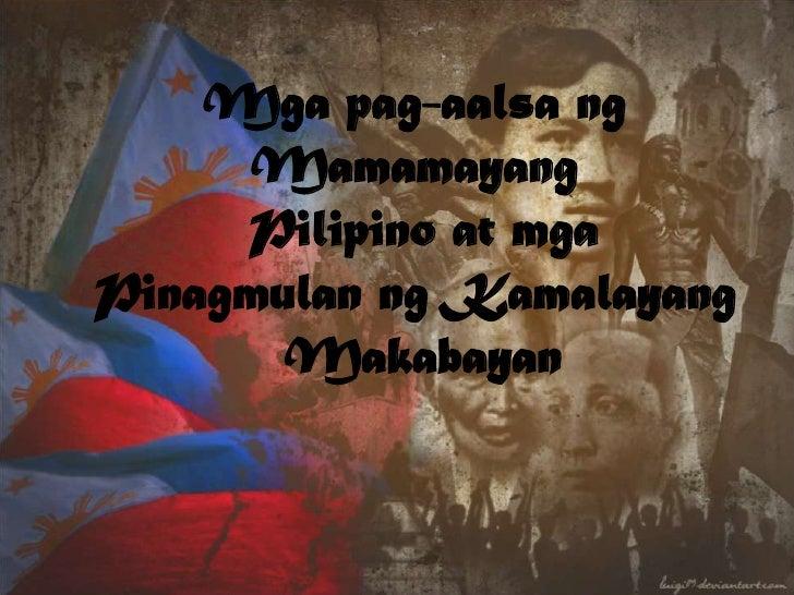 Mgapag-aalsangMamamayang<br /> Pilipino at mga<br />PinagmulanngKamalayang<br />Makabayan<br />
