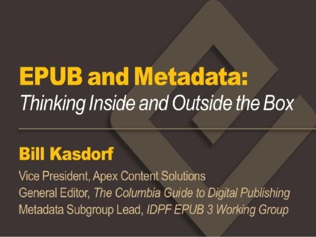 Kasdorf EPUB and Metadata (rev. 1.0)