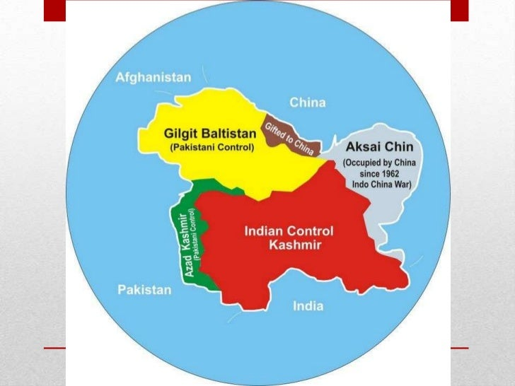 Actual Map Of India.Kashmir