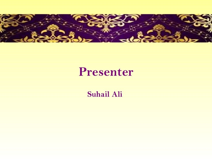 Presenter Suhail Ali