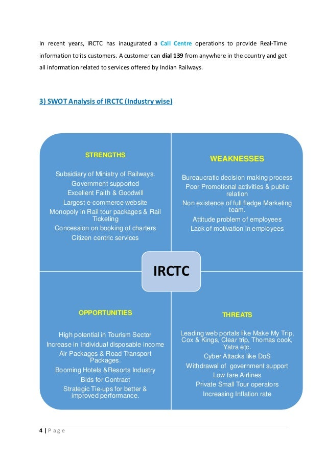 irctc project report
