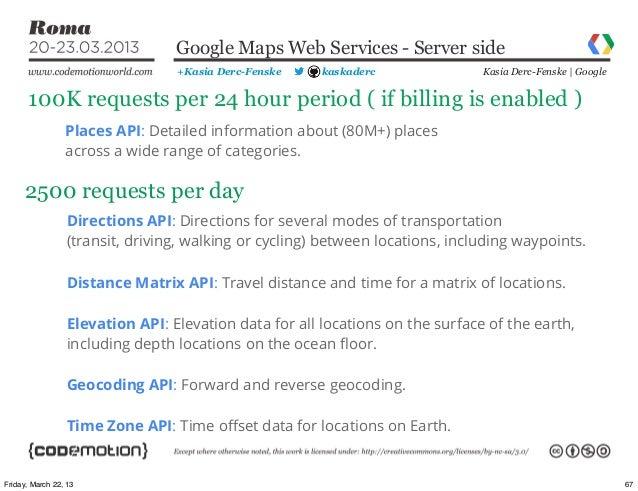 Google Maps Mobile APIs by Kasia Derc-Fenske