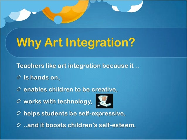 art integration Arts integration is instruction that integrates content and skills from the arts — dance, music, theater, and the visual arts — with other core subjects.