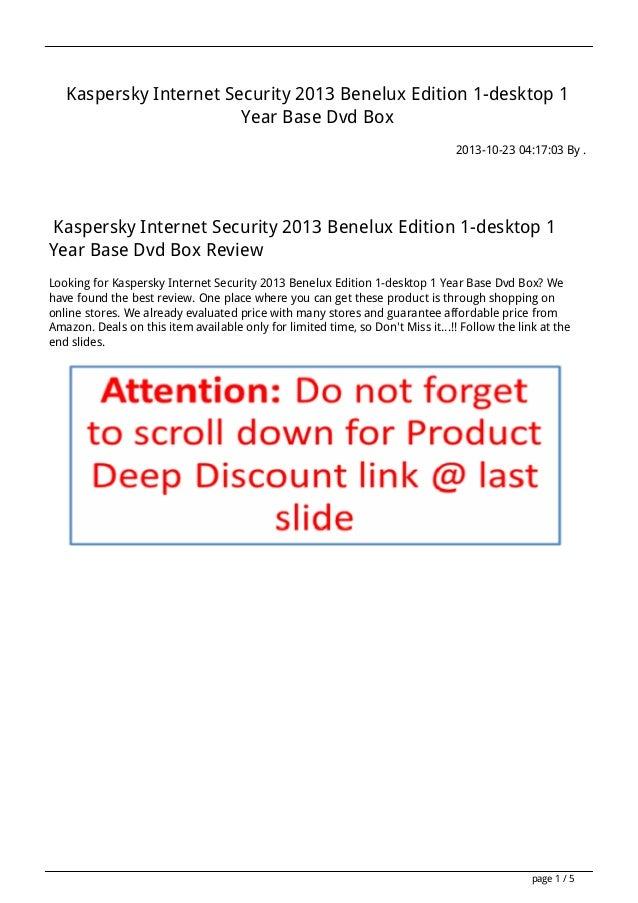 Kaspersky Internet Security 2013 Benelux Edition 1-desktop 1 Year Base Dvd Box 2013-10-23 04:17:03 By .  Kaspersky Interne...
