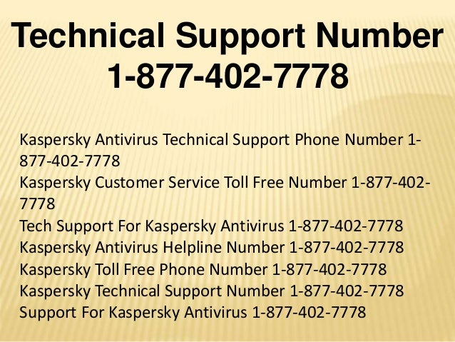 Kaspersky Antivirus Technical Support Number 1-8774027778 Activation …