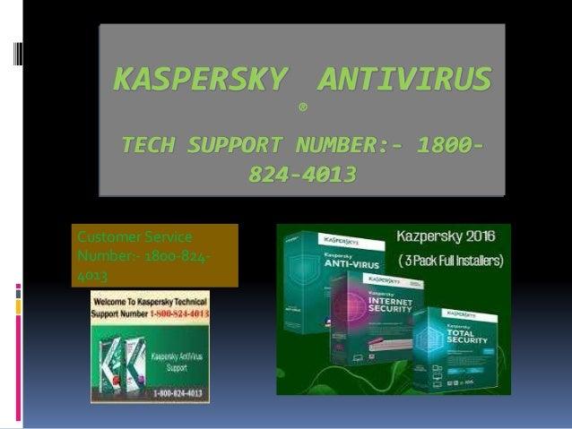 kaspersky customer service phone number 1-800-824-4013
