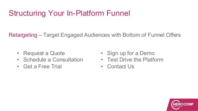 Structuring Your In-Platform Funnel Retargeting – Target Engaged Audiences with Bottom of Funnel Offers • Request a Quote ...