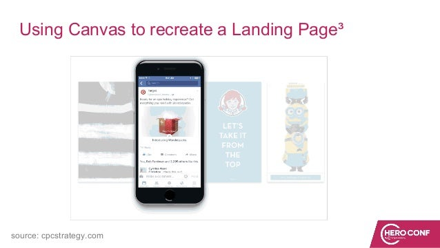 Using Canvas to recreate a Landing Page³ source: cpcstrategy.com