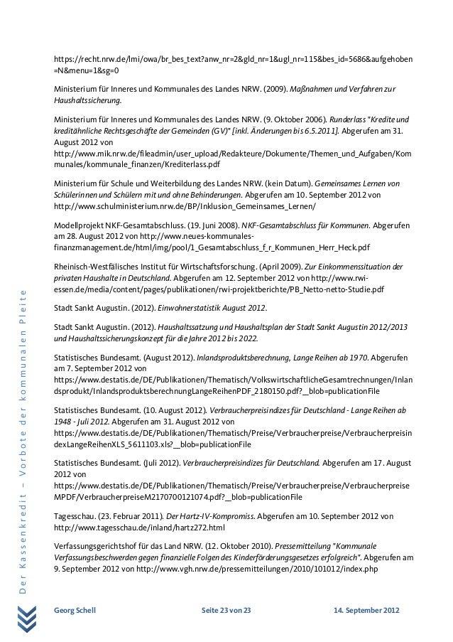 Georg Schell Seite 23 von 23 14. September 2012 DerKassenkredit–VorbotederkommunalenPleite https://recht.nrw.de/lmi/owa/br...