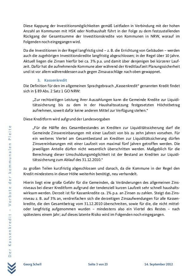 Eine Studie von Georg Schell zu Kassenkrediten Slide 3