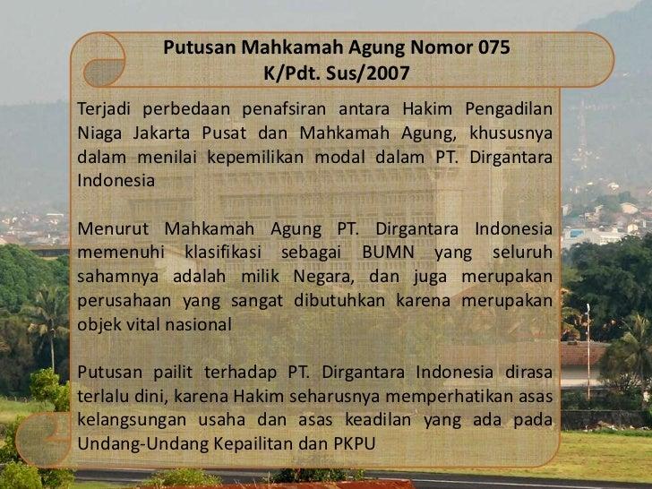 kasus dirgantara indonesia Tinjauan kepailitan pt di dari sudut pandang uu kepailitan di indonesia by tony- 295030.