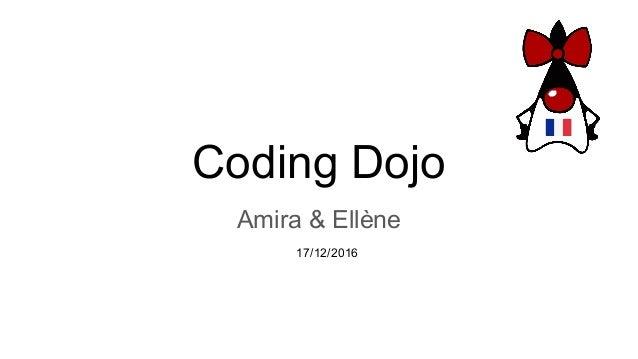 Coding Dojo Amira & Ellène 17/12/2016