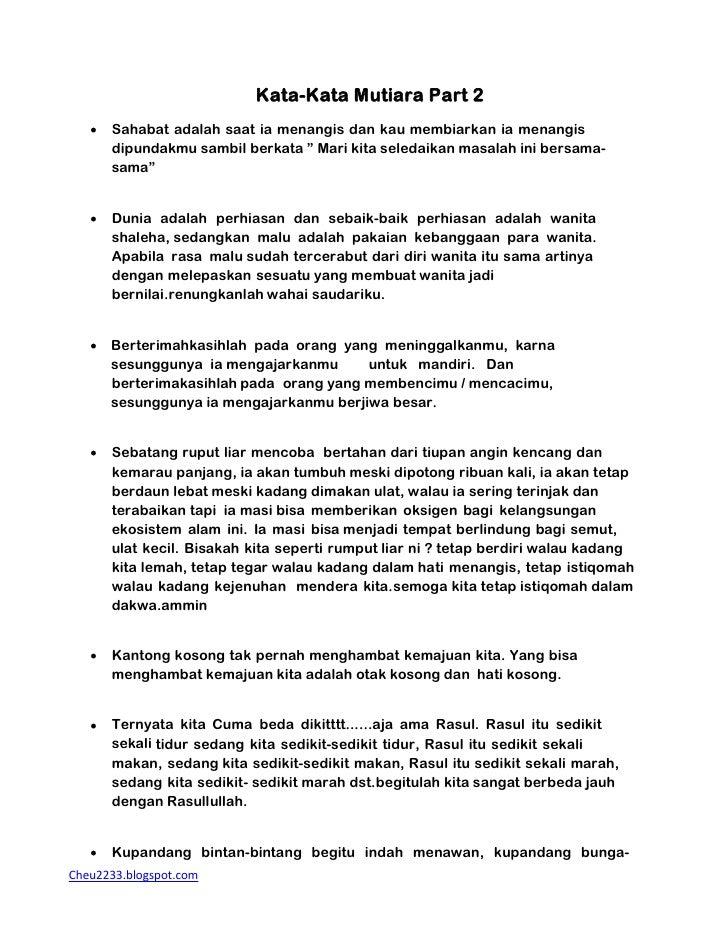 Kata Kata Mutiara Part 2