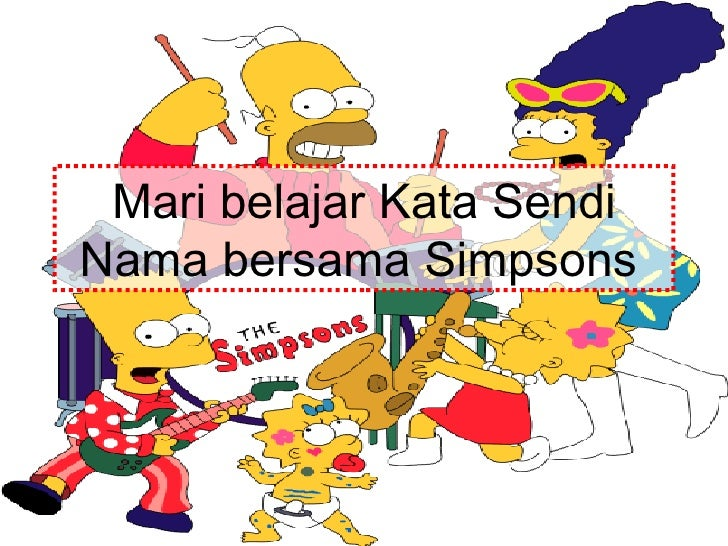 Mari belajar Kata Sendi Nama bersama Simpsons