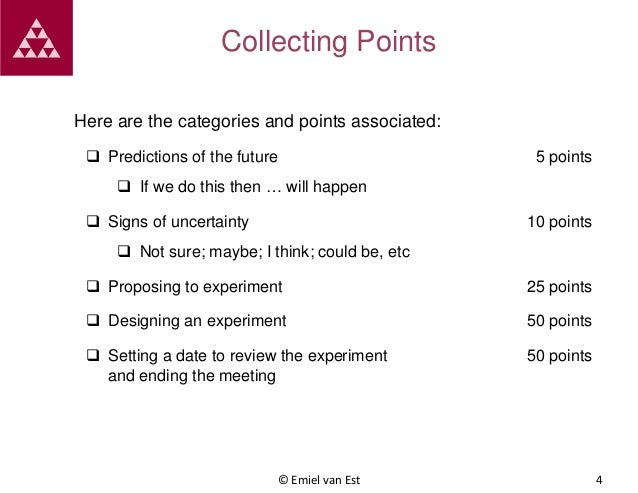 Collecting Points Here are the categories and points associated:  Predictions of the future  5 points   If we do this th...