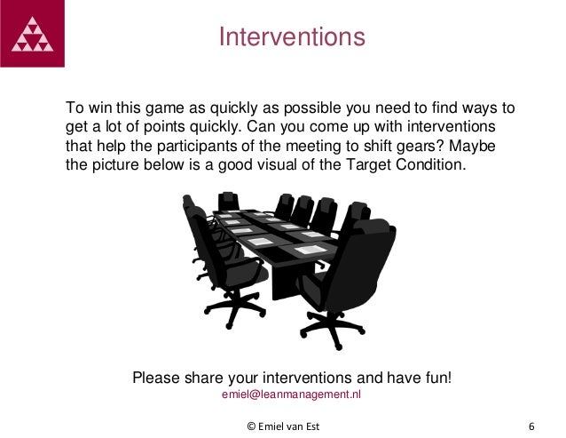 Interventions To win this game as quickly as possible you need to find ways to get a lot of points quickly. Can you come u...