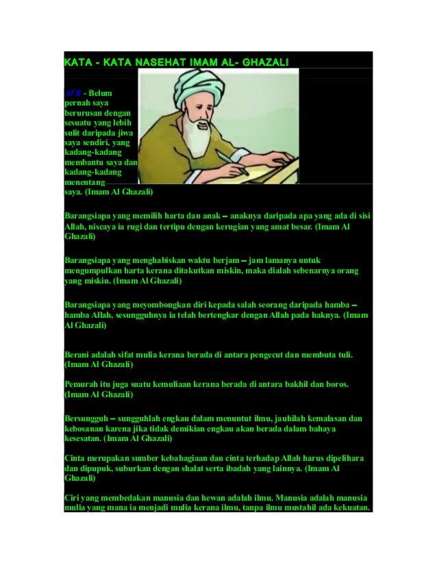 Kata Imam Ghazali