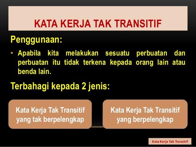 Kata Kerja Tak Transitif