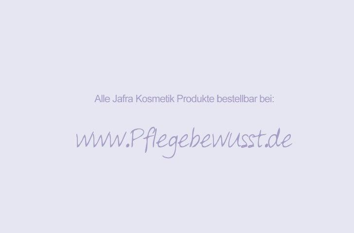 Jafra Kosmetik - Produktkatalog 2009 - Pflegebewusst.de