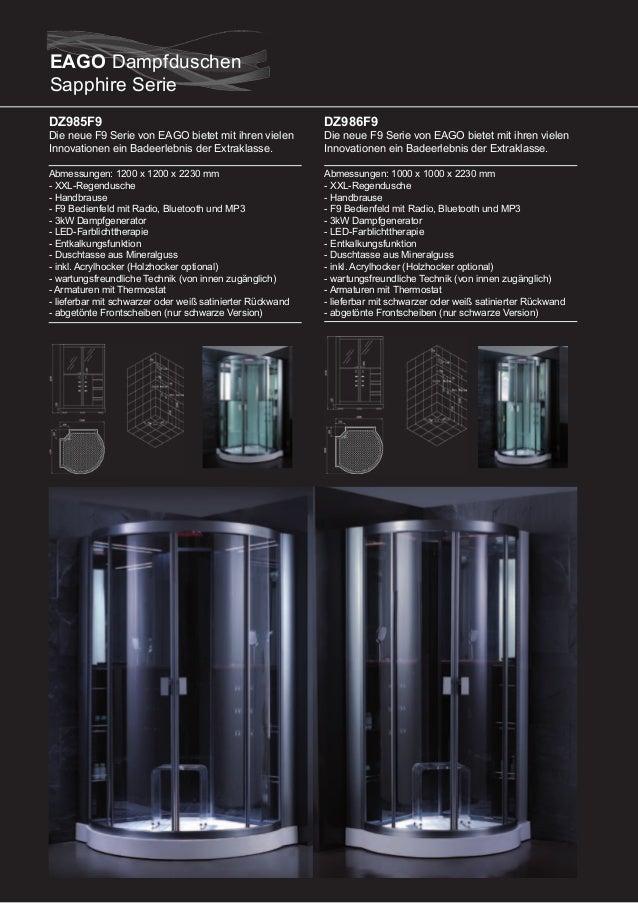 DZ981F9 (mittige Version)  Die neue F9 Serie von EAGO bietet mit ihren vielen Innovationen ein Badeerlebnis der Extraklass...
