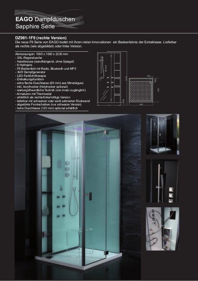 DZ987-1F9 (rechte Version)  Die neue F9 Serie von EAGO bietet mit ihren vielen Innovationen ein Badeerlebnis der Extraklas...