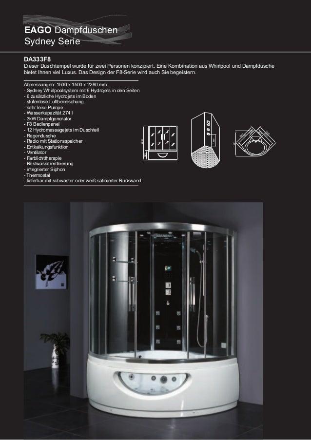 DA324HF3  Dieser Duschtempel wurde für zwei Personen konzipiert. Eine Kombination aus Whirlpool und Dampfdusche bietet Ihn...