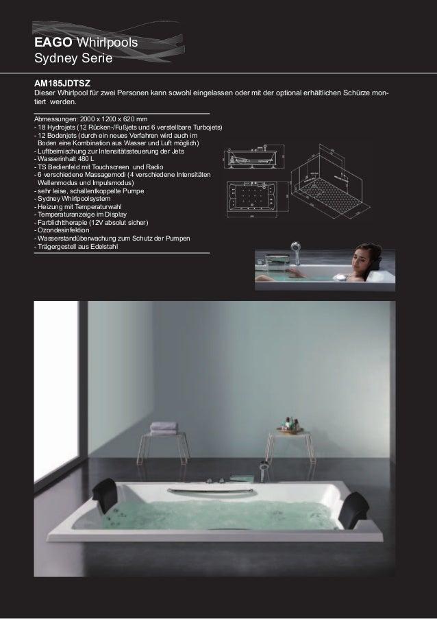 AM186JDTSZ  Dieser runde Whirlpool für zwei Personen kann sowohl eingelassen oder mit der optional erhältlichen Schürze fr...