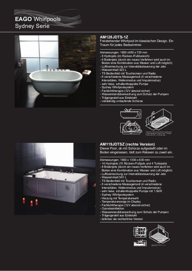 AM161RD (rechte Version)  Dieser Pool passt dank seiner kompakten Größe in jedes Badezimmer Abmessungen: 1500 x 1000 x 650...