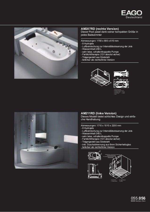 EAGO Duschen D989A / D990A/ D991A (linke Version)  Diese innovative Duschserie ist ein Blickfang für jedes Badezimmer. Die...