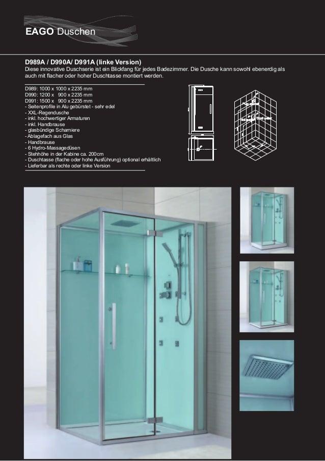 D993A  Diese innovative Duschserie ist ein Blickfang für jedes Badezimmer. Die Dusche kann sowohl ebenerdig als auch mit f...