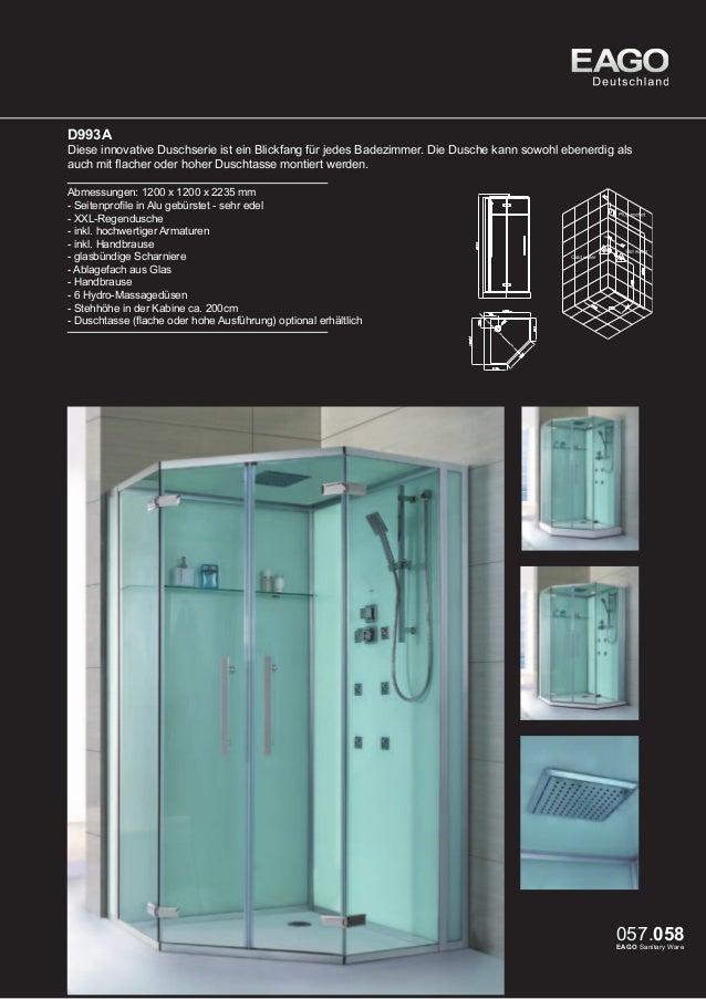 Dusche LLA1000-15 - EasyInstall: Einfache Installation - EasyClean: Einfache Reinigung (Lotus Effekt) - Hebe-/Senkmechanis...