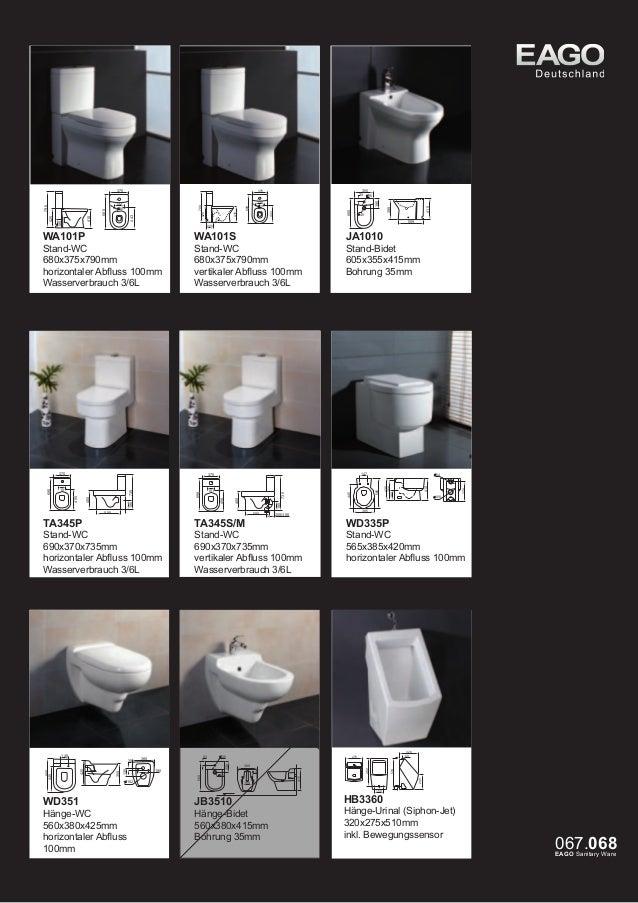 Waschbecken mit Halbsäule 600x450x450mm 1-Loch Version Handtuchhalter  1-Loch Version  BD351E  Waschbecken mit Halbsäule 5...