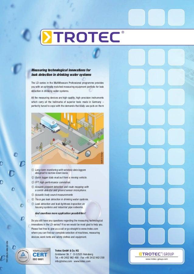 katalog trotec leak detection combi detector sound pressure data logg. Black Bedroom Furniture Sets. Home Design Ideas