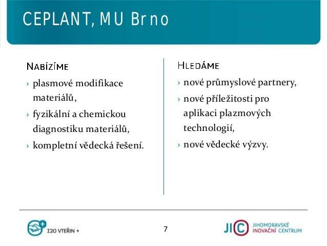 › nové průmyslové partnery, › nové příležitosti pro aplikaci plazmových technologií, › nové vědecké výzvy. › plasmové modi...