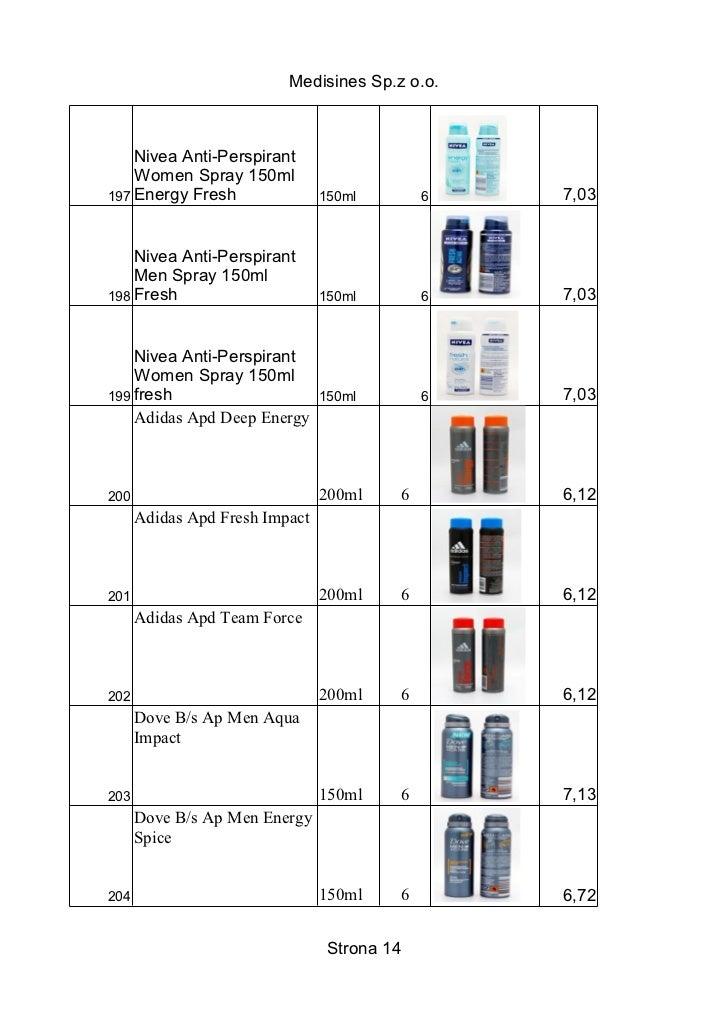 Medisines Sp.z o.o.    Nivea Anti-Perspirant    Women Spray 150ml197 Energy Fresh                150ml        6   7,03    ...