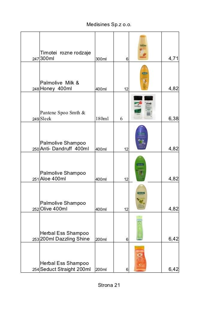 Medisines Sp.z o.o.    Timotei rozne rodzaje247 300ml                    300ml          6    4,71    Palmolive Milk &248 H...